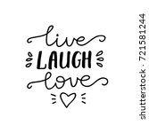 "vector lettering ""live  laugh ... 