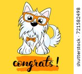 vector illustration of a dog...   Shutterstock .eps vector #721582498