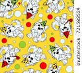 seamless pattern of a dog... | Shutterstock .eps vector #721583524