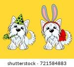 vector illustration of a dog... | Shutterstock .eps vector #721584883