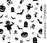 vector pattern for halloween on ... | Shutterstock .eps vector #721586563