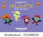 vintage halloween poster design ... | Shutterstock .eps vector #721588510