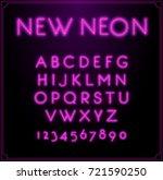 neon font type alphabet.... | Shutterstock . vector #721590250
