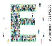 letter e  group of people ... | Shutterstock .eps vector #721592170