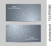 set of horizontal banners.... | Shutterstock .eps vector #721595380