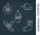 collection of chalk sketch new...   Shutterstock .eps vector #721599733