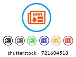 hot news rounded icon. style is ... | Shutterstock .eps vector #721604518