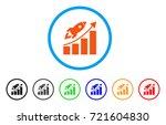 startup rocket growth chart... | Shutterstock .eps vector #721604830
