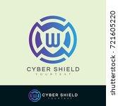 cyber shield initial letter w... | Shutterstock .eps vector #721605220