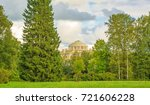 old park on a cloudy autumn day | Shutterstock . vector #721606228
