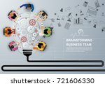 idea concept for business... | Shutterstock .eps vector #721606330