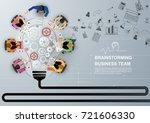 idea concept for business... | Shutterstock .eps vector #721606330