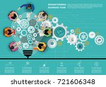 idea concept for business... | Shutterstock .eps vector #721606348