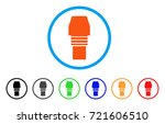 gas burner nozzle rounded icon. ... | Shutterstock .eps vector #721606510