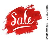 sale banner with red blob ... | Shutterstock .eps vector #721606888