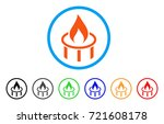 burner nozzle flame rounded... | Shutterstock .eps vector #721608178