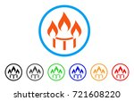 burner nozzle fire rounded icon.... | Shutterstock .eps vector #721608220