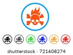 death fire rounded icon. style... | Shutterstock .eps vector #721608274