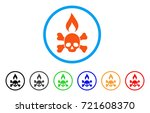 death ignition rounded icon.... | Shutterstock .eps vector #721608370