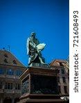 the gutenberg monument... | Shutterstock . vector #721608493