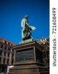the gutenberg monument... | Shutterstock . vector #721608499