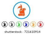 burn manuscript rounded icon....   Shutterstock .eps vector #721610914