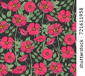 floral seamless pattern with... | Shutterstock .eps vector #721611958