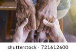 closeup hand  young female... | Shutterstock . vector #721612600