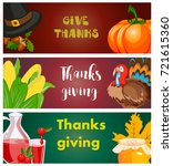 happy thanksgiving card... | Shutterstock .eps vector #721615360