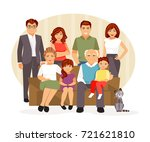 big and friendly family on the... | Shutterstock .eps vector #721621810