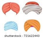 arab indian culture headdress... | Shutterstock .eps vector #721622443