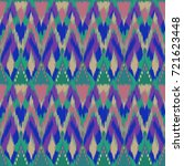 ikat seamless pattern  as cloth ... | Shutterstock . vector #721623448