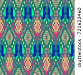ikat seamless pattern  as cloth ... | Shutterstock . vector #721623460