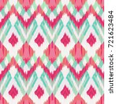 ikat seamless pattern  as cloth ... | Shutterstock . vector #721623484