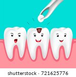 cute cartoon tooth character.... | Shutterstock .eps vector #721625776
