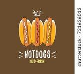 vector cartoon hotdogs icon set ... | Shutterstock .eps vector #721626013