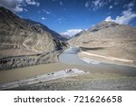 Scenic View Of Confluence Of...