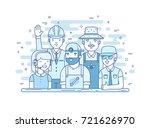 maintenance team illustration... | Shutterstock .eps vector #721626970