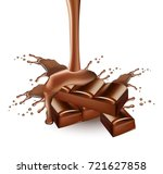 chocolate splash vector... | Shutterstock .eps vector #721627858