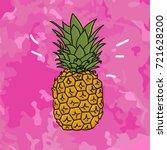 vector cartoon comic style hand ... | Shutterstock .eps vector #721628200