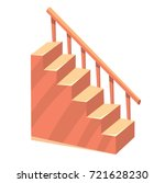 cartoon isolated stairs... | Shutterstock .eps vector #721628230