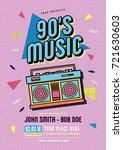 retro poster template.... | Shutterstock .eps vector #721630603