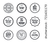 vintage quality label vector set | Shutterstock .eps vector #721631170