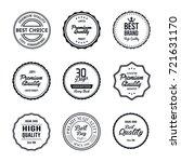 vintage quality label vector set | Shutterstock .eps vector #721631170