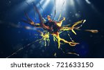 3d illustration of neural cell. ... | Shutterstock . vector #721633150