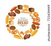 vector illustration bread...   Shutterstock .eps vector #721634449