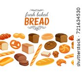 seamless border with bread... | Shutterstock .eps vector #721634530