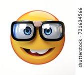 nerd emoji isolated on white... | Shutterstock . vector #721634566