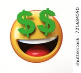 rich emoji isolated on white... | Shutterstock . vector #721634590