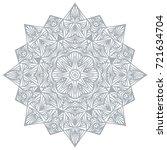 graphic round decorative...   Shutterstock .eps vector #721634704